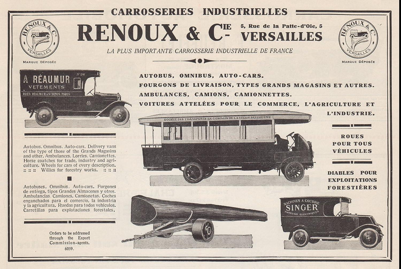 Amazon.com: 1926 Print Ad Renoux & Cie Coachbuilder Cars Buses Trucks Ambulances Vans: Posters & Prints