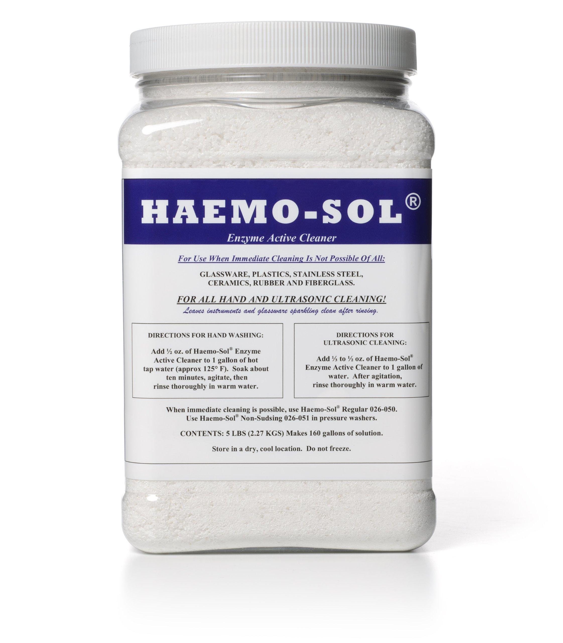 HAEMO-SOL 026-055CN Enzymatic Detergent, 5 lb by HAEMO-SOL