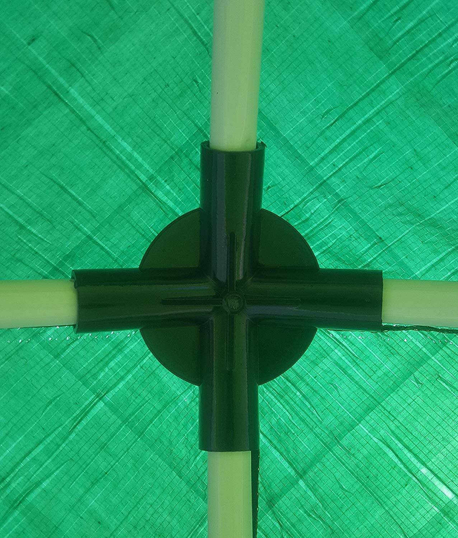 PE Facile 2,7 x 2,7 m per Fuori | Verde UV 50+ 7 kg Camping Evento SORARA Rifugio per Giardino Padiglione Tenda della Festa 270 x 270 cm Gazebo