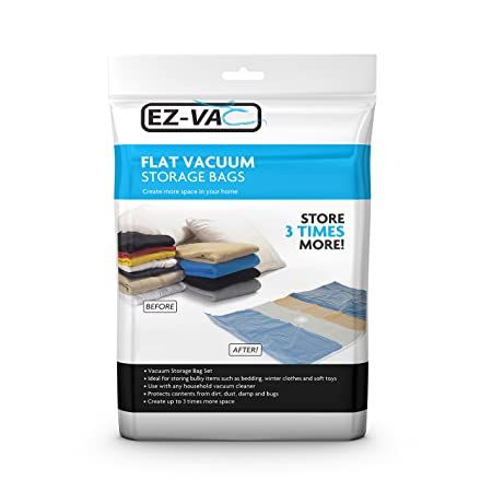 EZ Vac ® x2 Large Premium Vacuum Storage Bags Space Saver Vacuum Packing Bags For Duvets  sc 1 st  Amazon UK & EZ Vac ® x2 Large Premium Vacuum Storage Bags Space Saver Vacuum ...