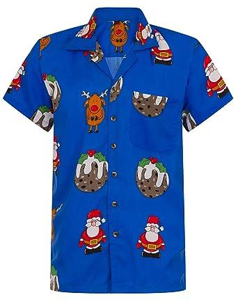 8d27f786d OE Menswear Christmas Hawaiian Shirt Mens Santa Loud Hawaii Reindeer Xmas  Party S M L XL XXL: Amazon.co.uk: Clothing
