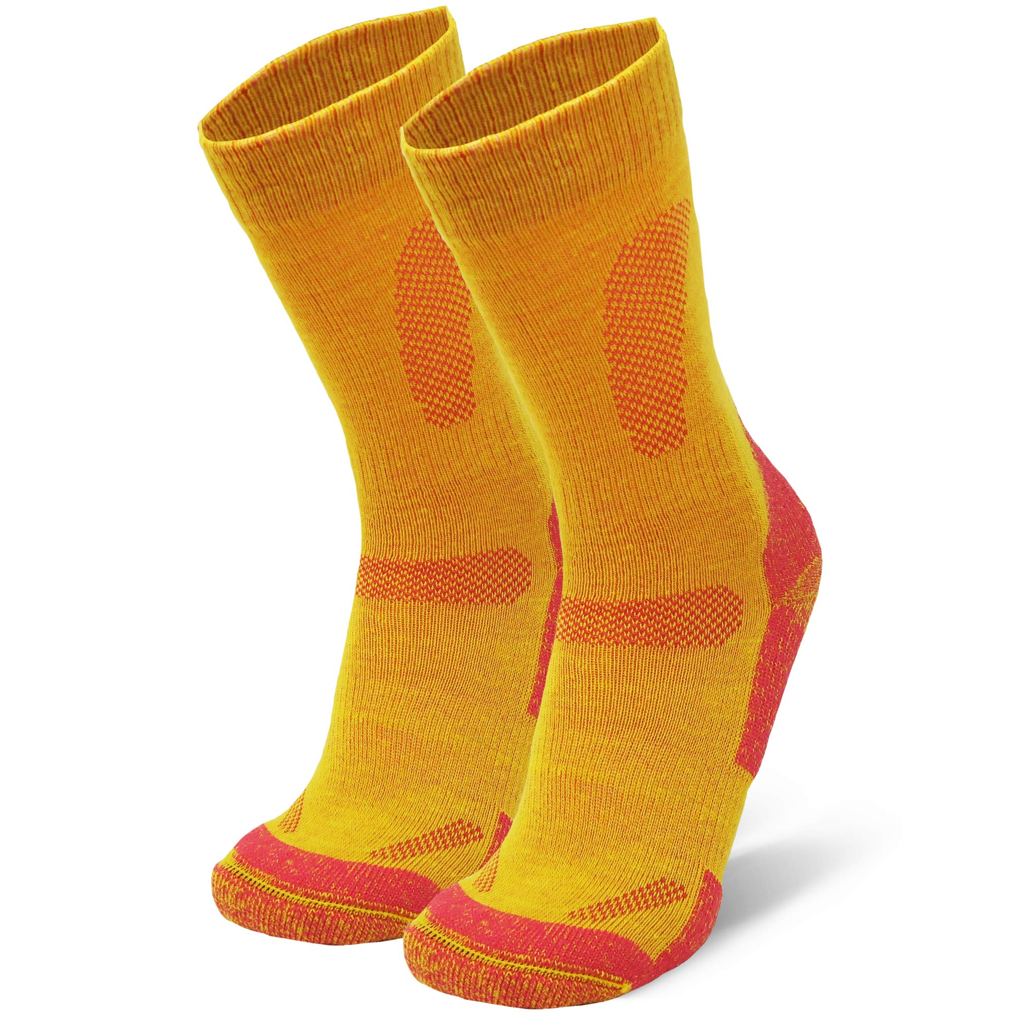DANISH ENDURANCE Merino Wool Hiking & Trekking Socks (Yellow 1 Pair, US Women 8-10 // US Men 6.5-8.5) by DANISH ENDURANCE