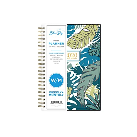 Blue Sky 2020 Weekly & Monthly Planner, Flexible Cover, Twin-Wire Binding, 5