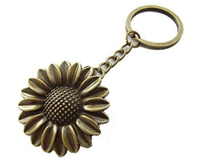 Amazon.com  Sunflower keychain 686a4fb05e