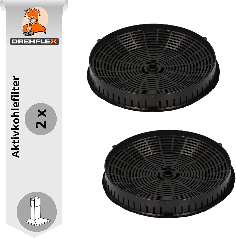 DREHFLEX 2 x Filtro de carbón/filtro de olores para diversos modelos de cabezas de AEG/Electrolux 4055171138/405517113–8 405521750 – 1/4055217501 y Elica cfc0038668 y Bauknecht/Whirlpool 482000009691: Amazon.es: Grandes electrodomésticos