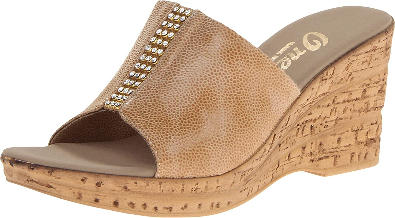 Onex Women's Billie Wedge Sandal B00F2FGI7W 8 B(M) US|Beige Eldorado