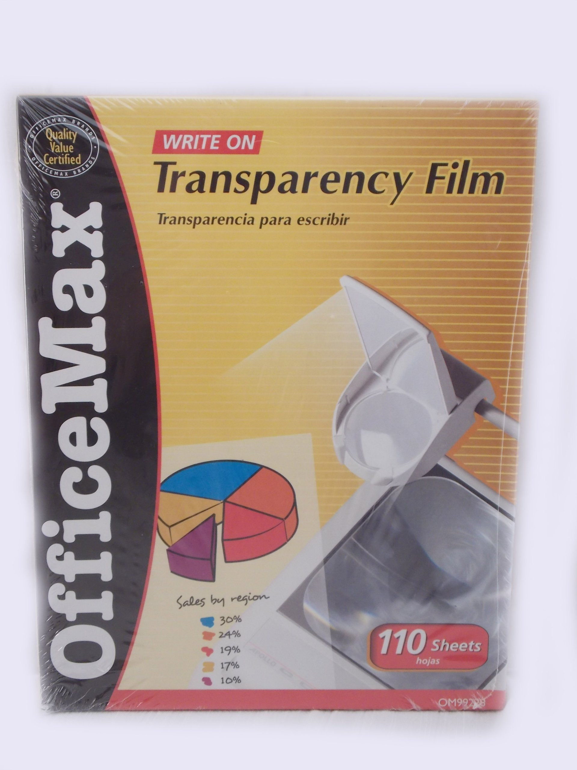 Office Max Write on Transparency Film 110 Sheets