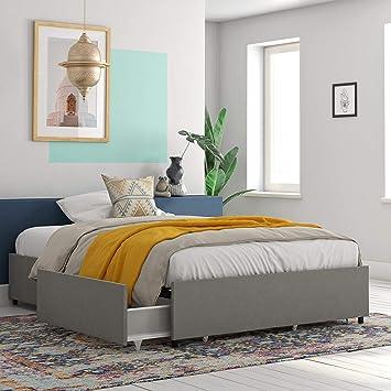 Amazon Com Realrooms Alden Platform Bed With Storage Drawers