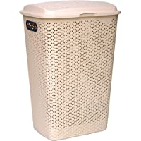 Princeware Juliet Laundry Basket with Mat Design Having Capacity of 53L, Strong and Sturdy