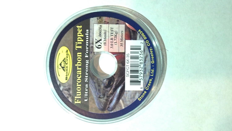 ストーンCreek Fluorocarbonティペットスプール35 M – Fly Fishing 5X  B006JHATEU