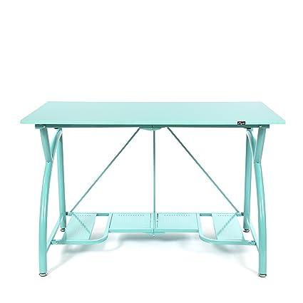 Amazon Origami Foldable Computer Desk Turquoise Home Improvement