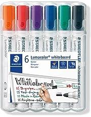 Staedtler Whiteboard Marker Lumocolor, Bullet Point Assorted, Wallet of 6, (351 WP6)