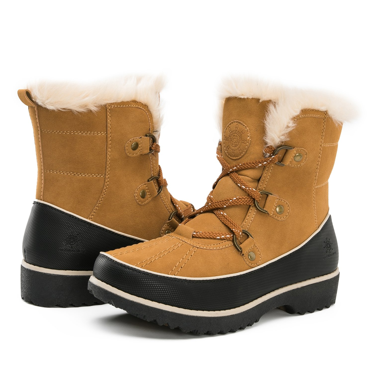 Global Win GLOBALWIN Women's Fur Trek Winter Boots B074T17LRQ 8.5 B(M) US|1728camel