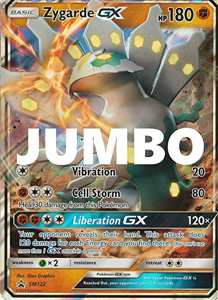 JUMBO//OVERSIZED ZYGARDE EX 54//124-20cm X 14cm!!! HOLO POKEMON PROMO CARD
