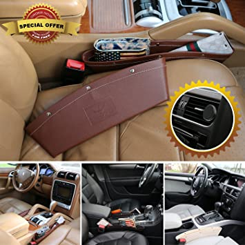 Luxury Pocket Organizer For Cars Trucks Vehicles 2 Pack PU Leather
