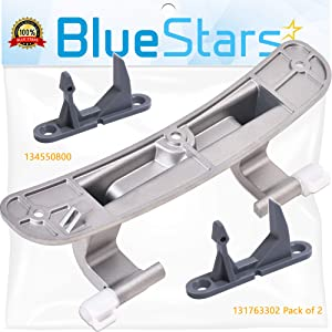 Ultra Durable 131763302 Washer Door Striker & 134550800 Washer Door Hinge with Bushings Kit Replacement by Blue Stars - Exact Fit for Frigidaire Kenmore Washers