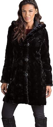 b3993c7ee02a Betsy Reversible Hooded Mink Fur Coat at Amazon Women s Coats Shop