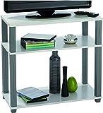 Demeyere 229928 Polytub Meuble TV Midi Multiplis/Métal Blanc 60 x 29,5 x 57,3 cm