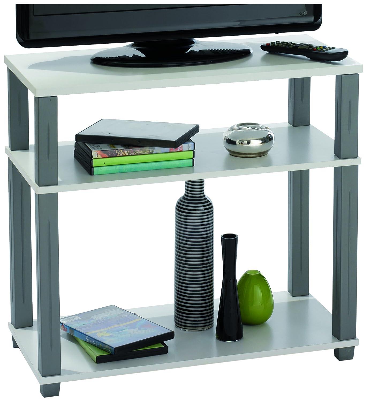 Demeyere 229928 Polytub Meuble Tv Midi Multiplis M Tal Blanc 60 X  # Meuble Tv Qui Prend Pas De Place
