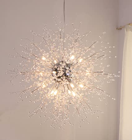 Amazon.com: GDNS Chandeliers Firework LED Light Stainless Steel ...