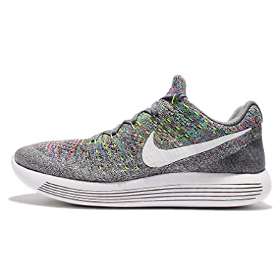 a3c8c5e23a046 Image Unavailable. Image not available for. Color  Nike Men s Lunarepic Low  Flyknit 2 Running Shoe Cool Grey White-Volt-Blue