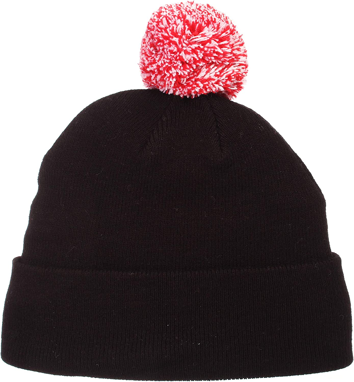 NCAA ZHATS Cuffed Winter Knit Toque Cap Zephyr Cuff Beanie Hat with POM POM