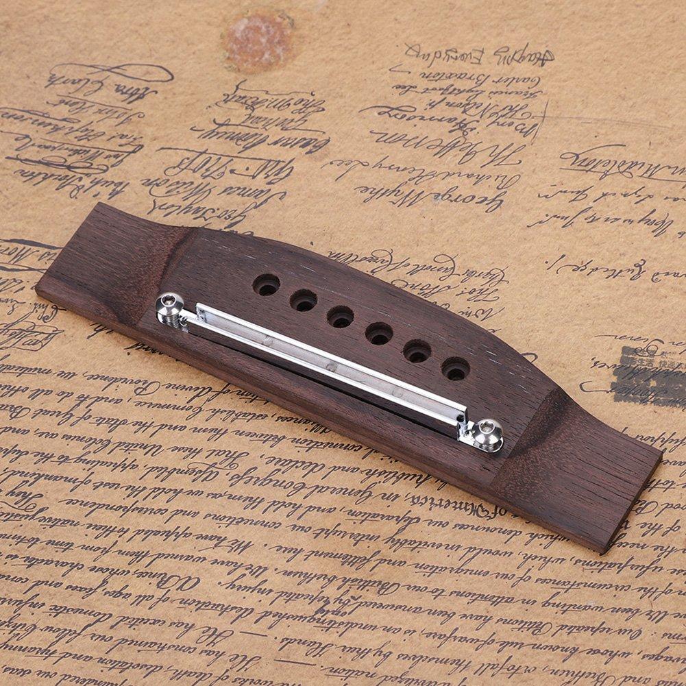 Dilwe Wood Guitar Bridge Saddle Nut Adjustable Shaft Repair Kit for 6 String Folk Guitar