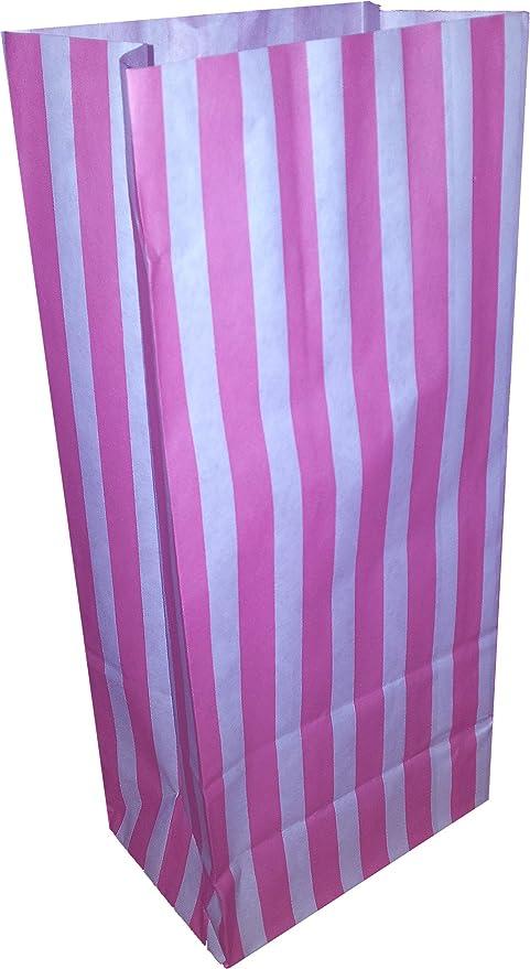 25 bolsas de papel a rayas para golosinas, ideales para ...