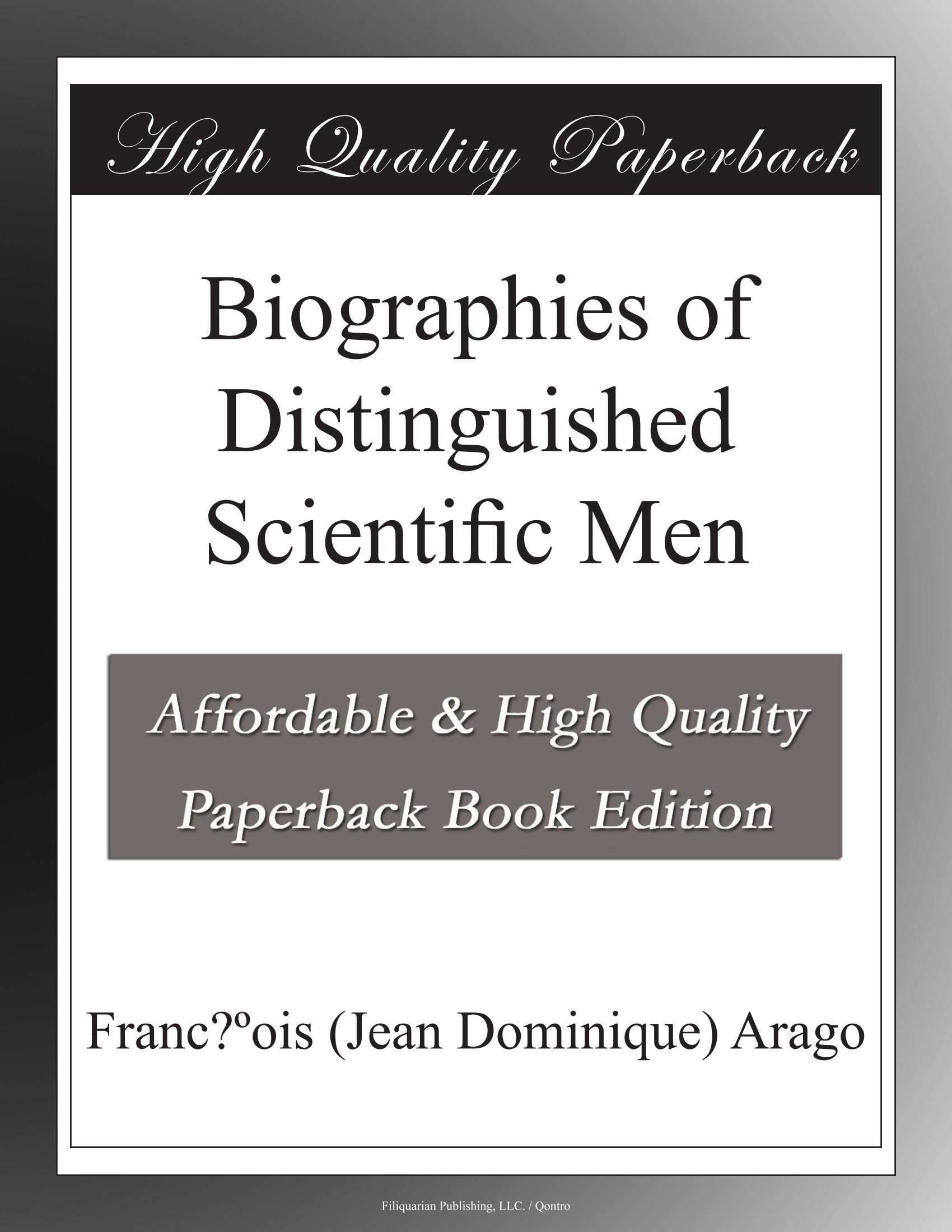 Read Online Biographies of Distinguished Scientific Men pdf epub