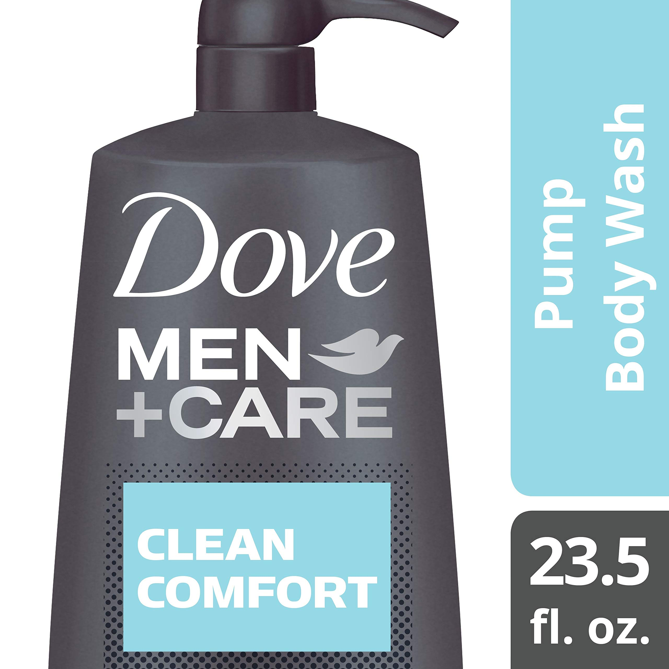 Dove Men+Care Body Wash Pump, Clean Comfort, 23.5 Ounce (Pack of 4) by DMC BAR BODY WASH