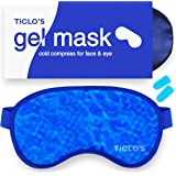 Ticlo's Gel Eye Mask - Cooling Ice Cold Compress Pad - Relax & Massage Your Tired, Puffy Eyes, Headaches, Face & Dark Circles