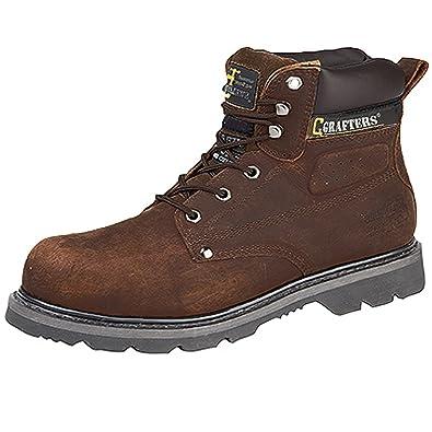 Grafters , Chaussures de sécurité pour homme Marron marron