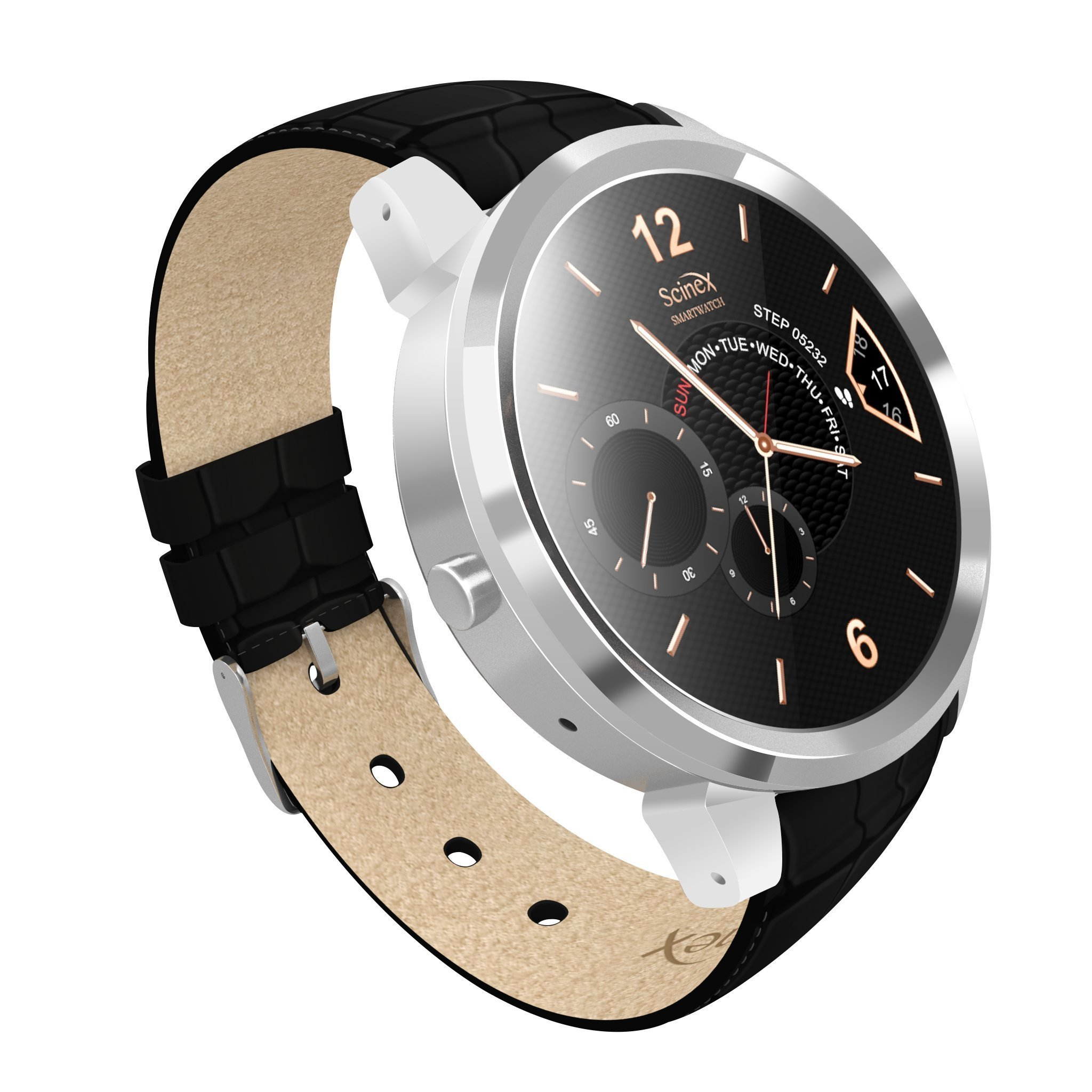 Scinex Halo Smart watch Android 5.1 (Silver Black)