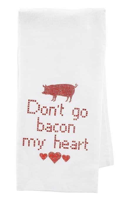 Don t go bacon mi corazón Cruz Estilo Toalla de té