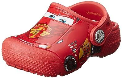 crocs Fun Lab Cars Clog Kids, Jungen Clogs, Rot (Flame), 29/30 EU
