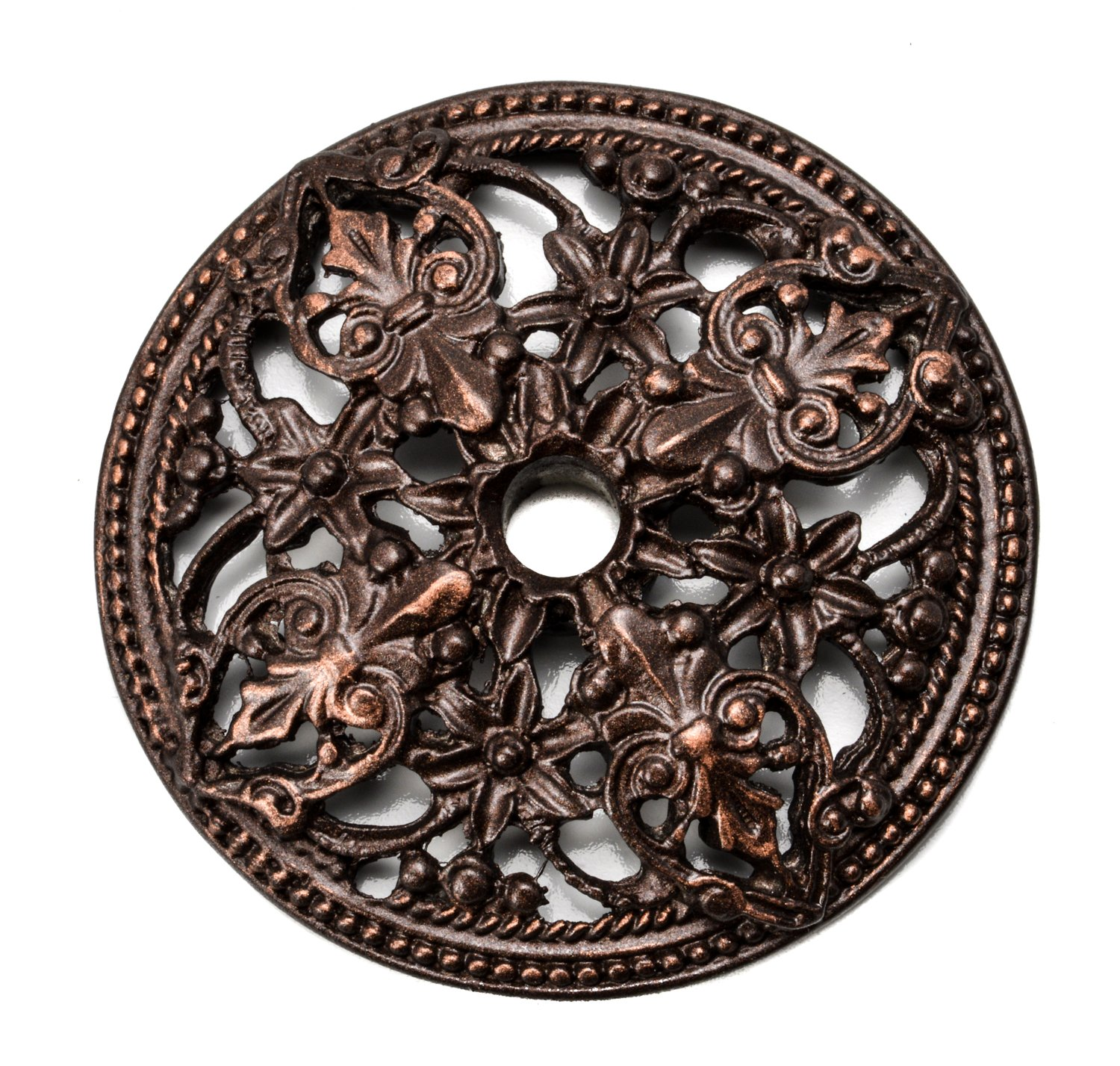 Carpe Diem Hardware 136-22 Juliane Grace Escutcheon with Florets, Oil Rub Bronze by Carpe Diem Hardware