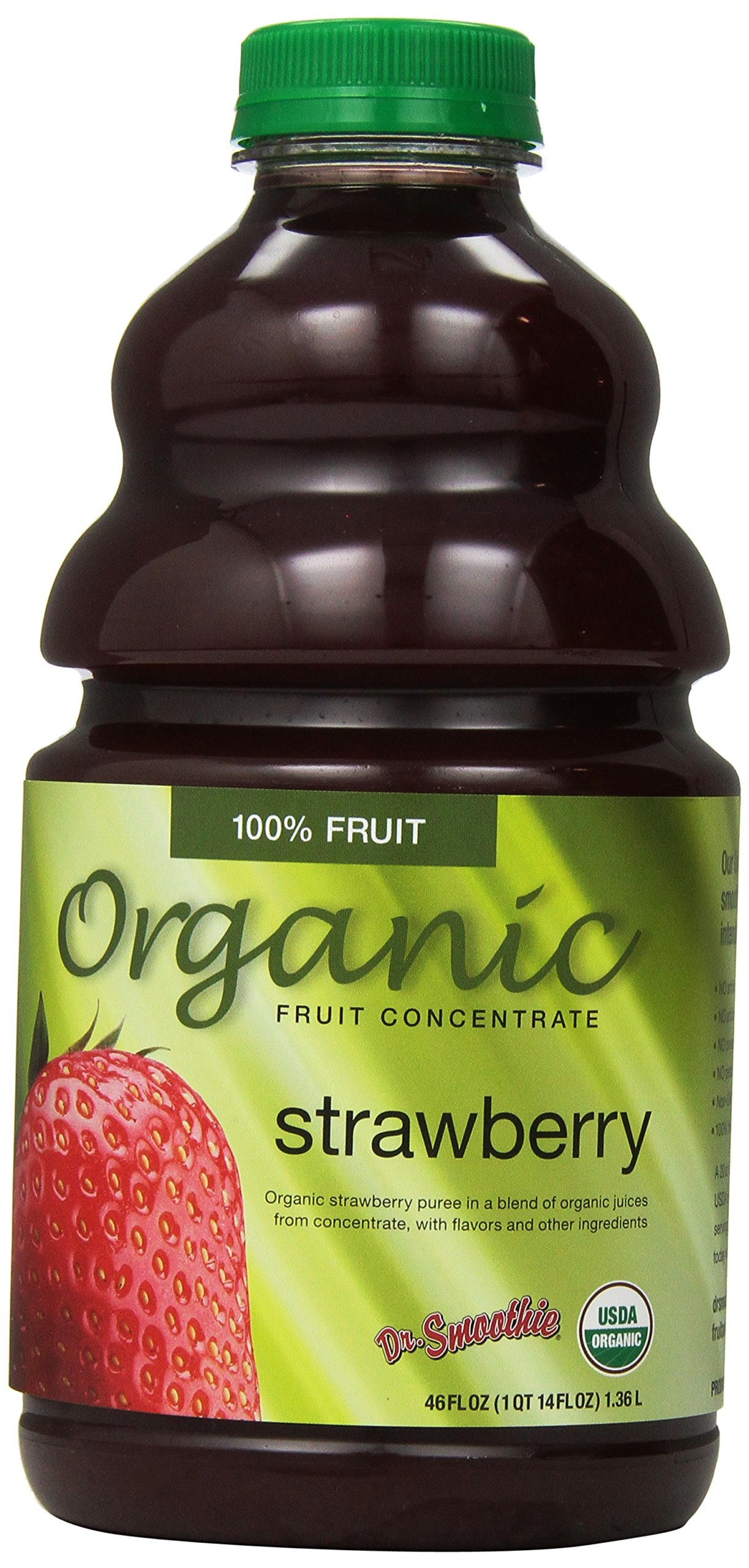 Dr. Smoothie Organic Strawberry Fruit Smoothie Concentrate, 46 Fluid Ounce