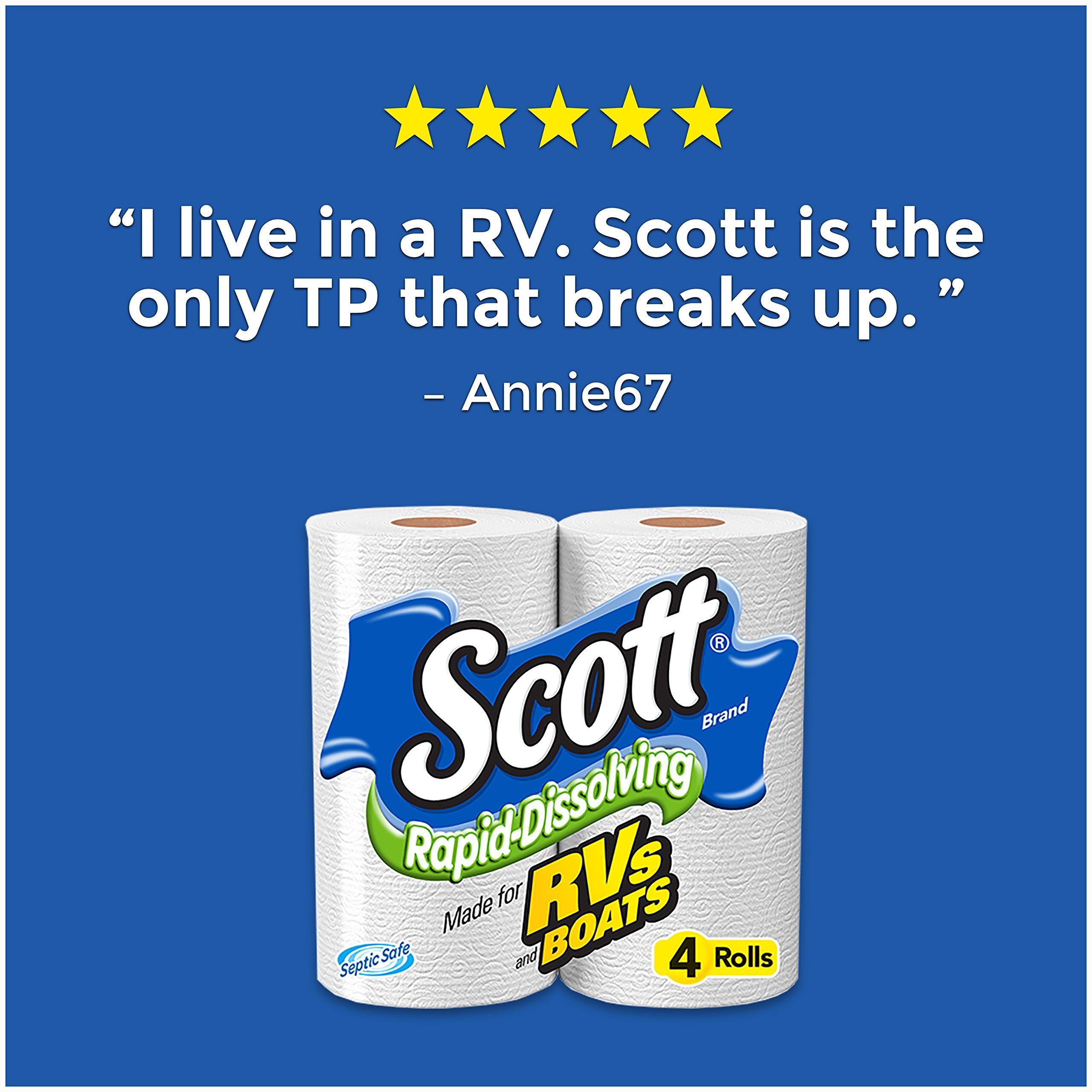 Scott Rapid-Dissolving Toilet Paper, 48 Rolls, Bath Tissue pack of 12 by Scott (Image #4)