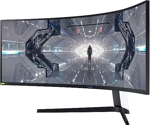 Samsung Odyssey G9 LC49G93TSSUXEN - Monitor curvo de 49 DQHD (5120 x 1440p, 1 ms, 240 Hz, GSync, FreeSync Premium Pro, LED, HDR1000, 32:9, 420 cd/m², 1000R, HDMI, PBP, PIP) Blanco: Amazon.es: Informática