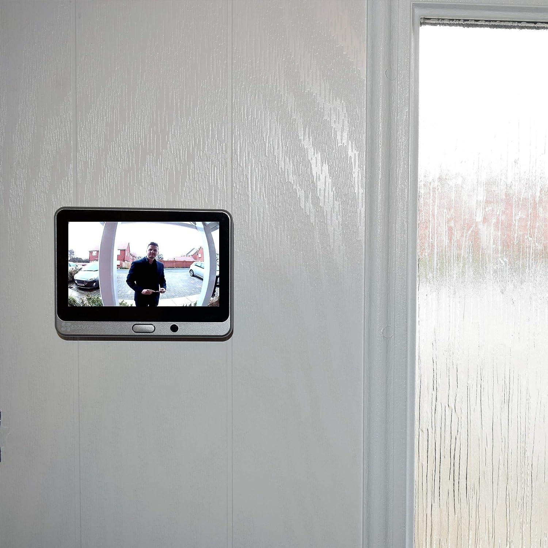 Ezviz Cam/éra de visualisation de Porte Intelligente Wi-FI 720p avec PIR Compatible avec Alexa et Google Assistant Prise Britannique
