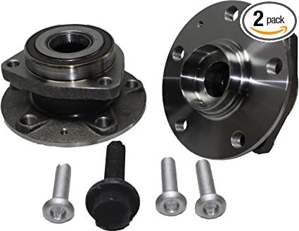Amazon com: Pair (2) Front 3-Bolt Flange Wheel Bearing and