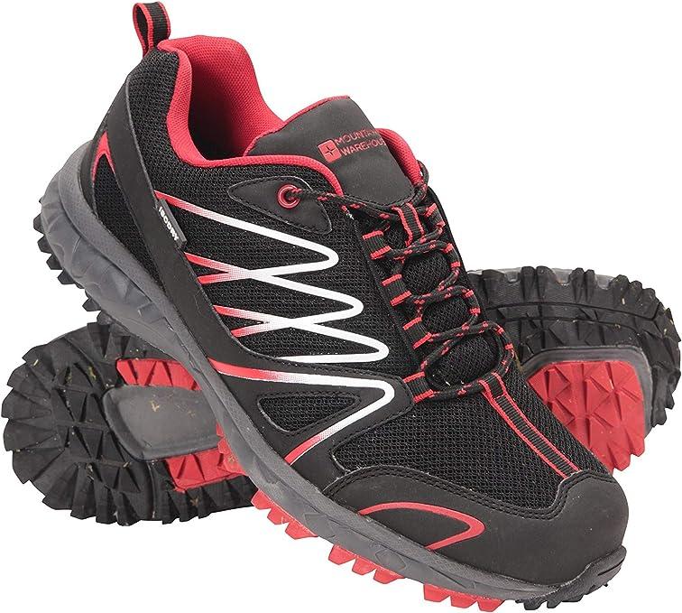 Mountain Warehouse Zapatillas de Correr Impermeables Enhance para Hombre - Zapatillas Informales Transpirables, Suaves, Zapatillas cómodas - Calzado para Uso Diario Negro Jet 40: Amazon.es: Zapatos y complementos
