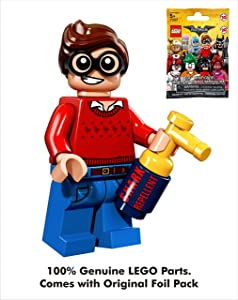 Batman DC Comics Lego Movie 009 Dick Grayson aka Robin (with Shark Repellent) Mini Blind Bag Figure_71017