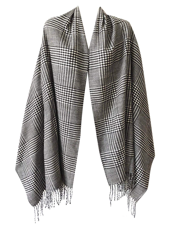 NEW Fashion 100/% CASHMERE SCARF MADE IN SCOTLAND PLAID DESIGN SUPER SOFT UNISEX