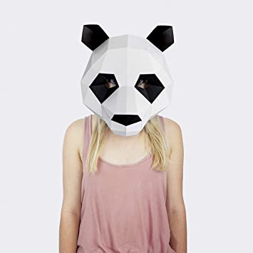 Máscara Oso Panda | Disfraces, Fiestas | Máscara Disfraz Halloween ...