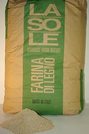 SERRÍN de madera virgen para secar y limpiar en bolsa por 13 KG: Amazon.es: Jardín