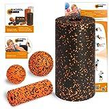Blackroll Orange (Das Original) Starter Set mit der Faszienrolle Standard - Alles für den erfolgreichen Einstieg ins Faszientraining  inkl. Übungs-DVD, Übungsposter & Booklet. Qualität Made in Germany
