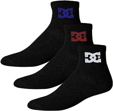 DC Shoes Calcetines Hombre Deporte Pack de 3 Pares Quarter ...