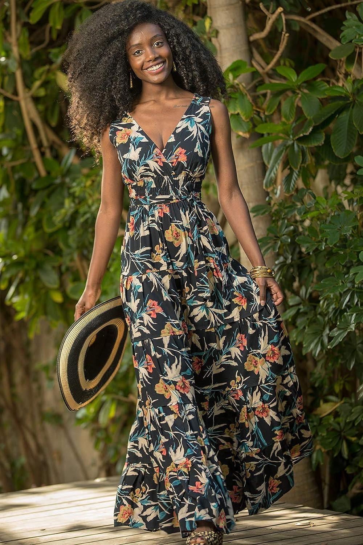 size S Evening /& Day Romantic Flower Dress Black Floral Summer Maxi Dress Boho Urban Unique Long Carrie Dress XL