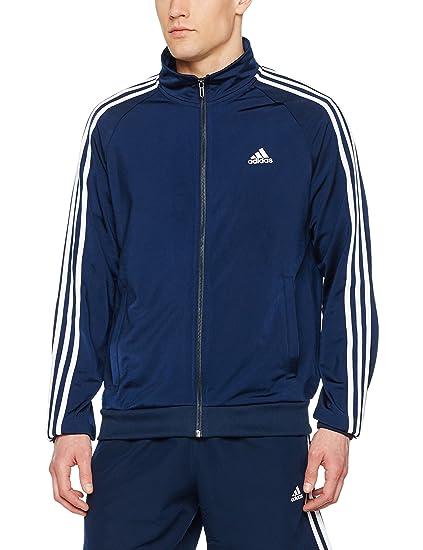 adidas ESS 3S Ttop Tri Sudadera, Hombre, Azul (Maruni/Blanco),